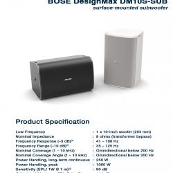 BOSE DesignMax DM10S SUB
