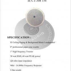 Speaker Ie CT 308T