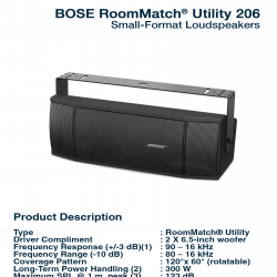 Bose RoomMatch Utility RMU-206