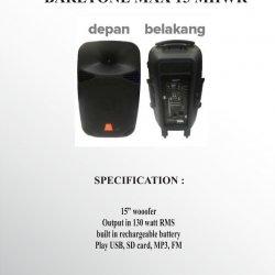 Portable Bartone MAX 15 MHWR