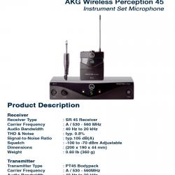 AKG 45 Instrument Set