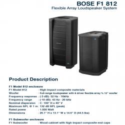Bose F1 812