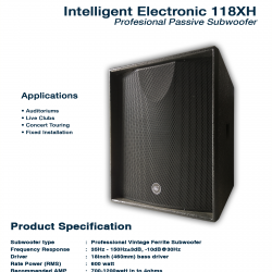 Intelligent Electronic 118 XH