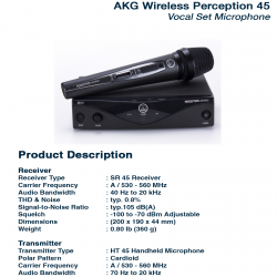 AKG 45 Vocal Set