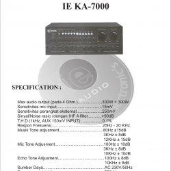 Amplifier Ie KA-7000