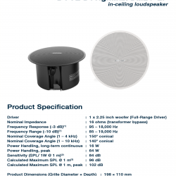 BOSE DesignMax DM2C