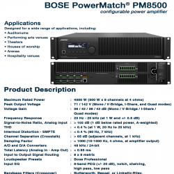 Bose PowerMatch PM-8500
