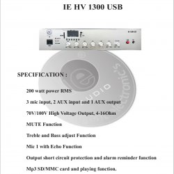 Amplifier Ie HV 1300 USB