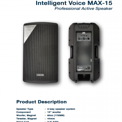 Intelligent Voice Max 15