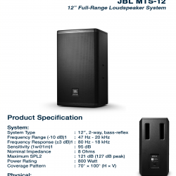 JBL MTS 12
