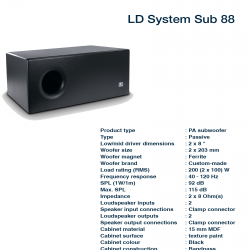 LD System SUB 88
