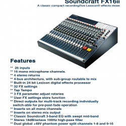Soundcraft FX-16ii