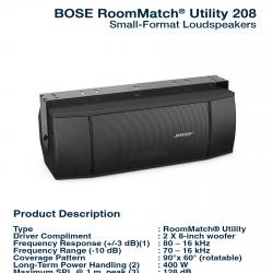 Bose RoomMatch Utility RMU-208