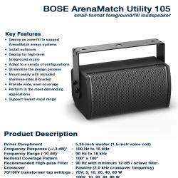 Bose ArenaMatch Utility AMU-105